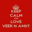 KEEP CALM AND LOVE VEER N AMIIT - Personalised Poster large