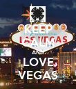 KEEP CALM AND LOVE VEGAS - Personalised Poster large