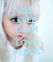 KEEP CALM AND LOVE VENUS - Personalised Poster large