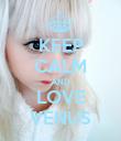 KEEP CALM AND LOVE VENUS - Personalised Poster large