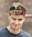 KEEP CALM AND LOVE  VIAM  - Personalised Poster large
