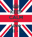 KEEP CALM AND love VII - C - Personalised Poster large
