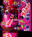 KEEP CALM AND love vimto - Personalised Poster large
