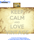 KEEP CALM AND LOVE VINTAGE - Personalised Poster large