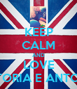 KEEP CALM AND LOVE VITTORIA E ANTONIO - Personalised Poster large