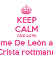 KEEP CALM AND LOVE  Xime De León and Crista rottmann - Personalised Poster large