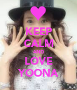 KEEP CALM AND LOVE YOONA - Personalised Poster large