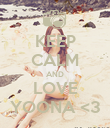 KEEP CALM AND LOVE YOONA <3 - Personalised Poster large