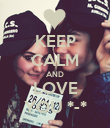 KEEP CALM AND LOVE YOU *-* - Personalised Poster large