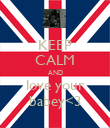 KEEP CALM AND love your babey<3 - Personalised Poster large