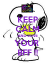 KEEP CALM AND LOVE YOUR  BFF !! - Personalised Poster large