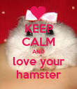 KEEP CALM AND love your hamster - Personalised Poster large