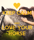 KEEP CALM  AND LOVE YOUR HORSE - Personalised Poster large