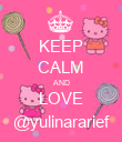 KEEP CALM AND LOVE @yulinararief - Personalised Poster large