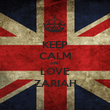 KEEP CALM AND LOVE ZARIAH - Personalised Poster large