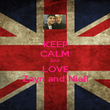 KEEP CALM And LOVE Zayn and Niall - Personalised Poster large