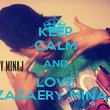 KEEP CALM AND LOVE ZAZAERY MINAJ - Personalised Poster large