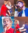KEEP CALM AND LOVE ZIALL - Personalised Poster large