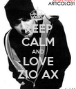 KEEP CALM AND LOVE ZIO AX - Personalised Poster large