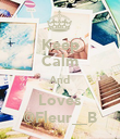 Keep Calm And Loves @Fleur__B - Personalised Poster large