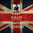 KEEP CALM AND LOVES GRAHAM COXON - Personalised Poster large