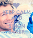 KEEP CALM AND LOVES SIMON BAKER - Personalised Poster large