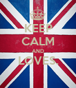 KEEP CALM AND LOVES.  - Personalised Poster small