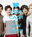 KEEP CALM AND LUV 1 D!!!!!! - Personalised Poster large