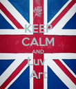 KEEP CALM AND Luv  Art - Personalised Poster large