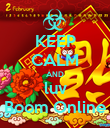 KEEP CALM AND luv Boom Online - Personalised Poster small