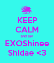 KEEP CALM and luv EXOShinee Shidae <3 - Personalised Poster large