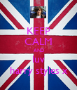 KEEP CALM AND luv harry styles x - Personalised Poster large