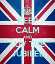 KEEP CALM AND LUV THE JUBILEE - Personalised Poster large
