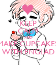 KEEP CALM AND MAKE CUPCAKES WITH ENGLAD - Personalised Poster large