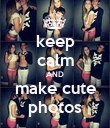 keep calm AND make cute photos - Personalised Poster large