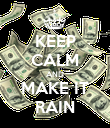 KEEP CALM AND MAKE IT RAIN - Personalised Poster large