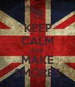 KEEP CALM AND MAKE SMORES - Personalised Poster large