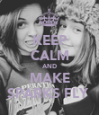 KEEP CALM AND MAKE SPARKS FLY  - Personalised Poster large
