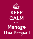 KEEP CALM AND Manage The Project - Personalised Poster large