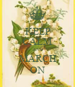 KEEP CALM AND MARCH ON - Personalised Poster large