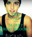 KEEP CALM AND MARRY BEAU BROOKS - Personalised Poster large