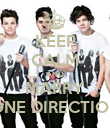 KEEP CALM AND MARRY ONE DIRECTION - Personalised Poster large