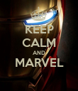 KEEP CALM AND MARVEL  - Personalised Poster large