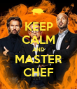 KEEP CALM AND MASTER CHEF - Personalised Poster large