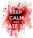 KEEP  CALM AND  MATE SEU CHEFE - Personalised Poster large