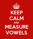 KEEP CALM AND MEASURE VOWELS - Personalised Poster large