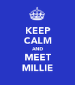 KEEP CALM AND MEET MILLIE - Personalised Poster large