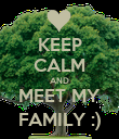 KEEP CALM AND MEET MY FAMILY :) - Personalised Poster large