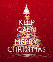 KEEP CALM AND MERRY CHRISTMAS - Personalised Poster large