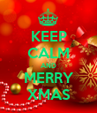 KEEP CALM AND MERRY XMAS - Personalised Poster large